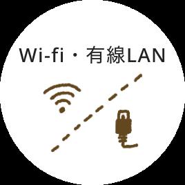 Wi-fi・有線LAN